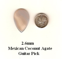 Mexican Coconut Agate Teardrop Guitar Picks